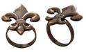 St. Croix KINDWER Bronze Fleur De Lis Napkin Ring