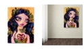 "Trademark Global Natasha Wescoat 'Eat Your Heart Out' Canvas Art - 14"" x 19"""