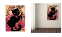 "Trademark Global Natasha Wescoat 'Le Chat Noir' Canvas Art - 14"" x 19"""