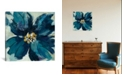 """iCanvas Inky Floral Ii by Silvia Vassileva Gallery-Wrapped Canvas Print - 18"""" x 18"""" x 0.75"""""""