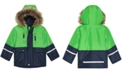 S Rothschild & CO Baby Boys Hooded Colorblocked Jacket With Faux-Fur Trim