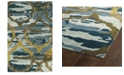 "Kaleen Brushstrokes BRS02-17 Blue 5' x 7'9"" Area Rug"