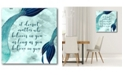 """Courtside Market Mermaid Quotes II 16"""" x 16"""" Gallery-Wrapped Canvas Wall Art"""