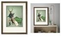 """Courtside Market Mr. Deer and Mrs. Rabbit 16"""" x 20"""" Framed and Matted Art"""