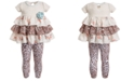 Bonnie Baby Baby Girls 2-Pc. Tiered Tunic & Animal-Print Leggings Set