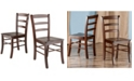 Winsome Wood Benjamin 2-Piece Ladder Back Chair Set