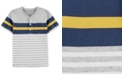 Carter's Baby Boys Henley-Neck Striped Cotton T-Shirt