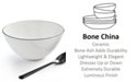 Hotel Collection Black Line Cereal Bowl, Created For Macy's