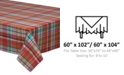 "Design Import Sherbert Plaid Tablecloth 60"" x 104"""