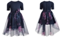 Pink & Violet Little Girls Floral-Print Ballerina Dress