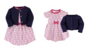 Touched by Nature Organic Cotton Dress and Cardigan Set, Trellis, 6-9 Months