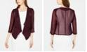 Calvin Klein Illusion-Sleeve Rhinestone-Accented Shrug