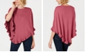 Karen Scott Petite Luxsoft Ruffled Poncho, Created For Macy's