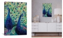 "iCanvas Gemini Peacock by Iris Scott Wrapped Canvas Print - 26"" x 18"""