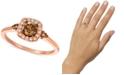 Le Vian Chocolate Diamond® and Nude Diamond™ (5/8 ct. t.w.) Halo Ring