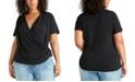 RACHEL Rachel Roy Trendy Plus Size Crossover Top