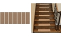 """Ottomanson Escalier Skid-Resistant Rubber Back Stair Treads Pack of 7, 8.5"""" x 26"""""""