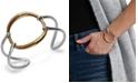 Lucky Brand Two-Tone Openwork Circle Cuff Bracelet
