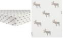 Trend Lab Moose Print Flannel Crib Sheet