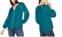 INC International Concepts INC Petite Grommet-Trim Split-Neck Top, Created for Macy's
