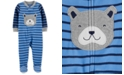 Carter's Baby Boys 1-Pc. Footed Fleece Striped Puppy Pajama