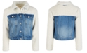 Epic Threads Big Girls Faux Sherpa Denim Jacket, Created for Macy's