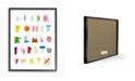 "Stupell Industries Alphabet Paper Collage Framed Giclee Art, 16"" x 20"""