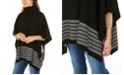 Michael Kors Textured Metallic Stripe Poncho
