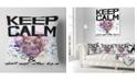 "Design Art Designart Hippopotamus Watercolor Illustration Contemporary Animal Throw Pillow - 18"" X 18"""