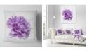 "Design Art Designart Purple Rose Watercolor Illustration Floral Throw Pillow - 18"" X 18"""