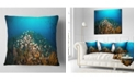 "Design Art Designart School Of Grunts Swimming In Water Landscape Printed Throw Pillow - 18"" X 18"""