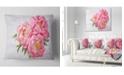 "Design Art Designart Bunch Of Peony Flowers In Vase Floral Throw Pillow - 18"" X 18"""