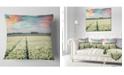 "Design Art Designart Morning In Tulip Farm Near Espel Village Landscape Printed Throw Pillow - 18"" X 18"""