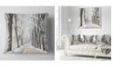 "Design Art Designart Winter Lane In Countryside Forest Throw Pillow - 18"" X 18"""