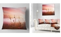 """Design Art Designart Foggy Land With Early Morning Mist Landscape Printed Throw Pillow - 18"""" X 18"""""""