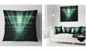 """Design Art Designart Light Green Bat On Radar Screen Abstract Throw Pillow - 18"""" X 18"""""""