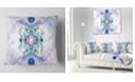 "Design Art Designart Cryptical Blue Fractal Pattern Abstract Throw Pillow - 18"" X 18"""