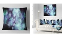 "Design Art Designart Perfect Flowery Starry Sky Abstract Throw Pillow - 18"" X 18"""