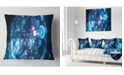 "Design Art Designart Blue Spherical Planet Bubbles Abstract Throw Pillow - 18"" X 18"""