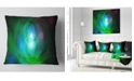 "Design Art Designart Merge Colored Spheres. Abstract Throw Pillow - 18"" X 18"""