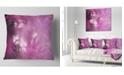 "Design Art Designart Blur Pink Sky With Stars Abstract Throw Pillow - 18"" X 18"""