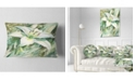 """Design Art Designart Large White Lily Painting Floral Throw Pillow - 12"""" X 20"""""""