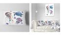 "Design Art Designart Colorful Jellyfish And Turtles Animal Throw Pillow - 12"" X 20"""