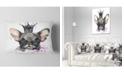"Design Art Designart Cute Black Dog With Crown Animal Throw Pillow - 12"" X 20"""