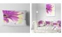 "Design Art Designart Lovely Purple Flower Watercolor Floral Throw Pillow - 12"" X 20"""
