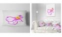 "Design Art Designart Fantastic Pink Flower Watercolor Floral Throw Pillow - 12"" X 20"""