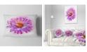 "Design Art Designart Large Purple Watercolor Flower Floral Throw Pillow - 12"" X 20"""