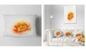 "Design Art Designart Beautiful Yellow Watercolor Flower Floral Throw Pillow - 12"" X 20"""
