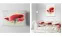 """Design Art Designart Beautiful Red Watercolor Poppy Flowers Throw Pillowwork - 12"""" X 20"""""""