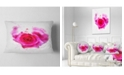 "Design Art Designart Pink Hand Drawn Rose On White Floral Throw Pillow - 12"" X 20"""